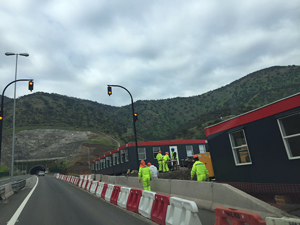 Construcciones del túnel CHamisero II Foto: Chicureo Hoy