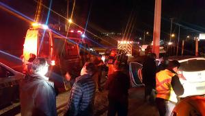 El accidente se produjo entre dos vehículos FOTO: Bomberos de Chicureo