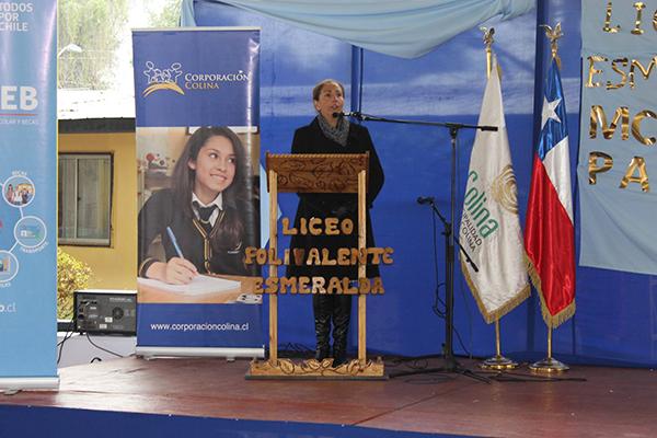 La actividad se realizó en el Liceo Esmeralda de Colina