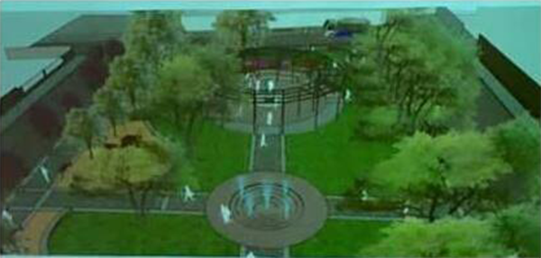 Así es como quedaría la plaza Esmeralda luego de la modificación.