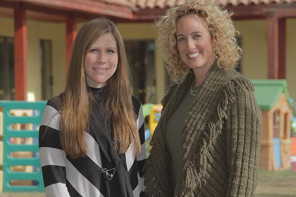 Carolina Toro y Andrea Strauss son las fundadoras del jardín Countryside FOTO: Chicureo Hoy