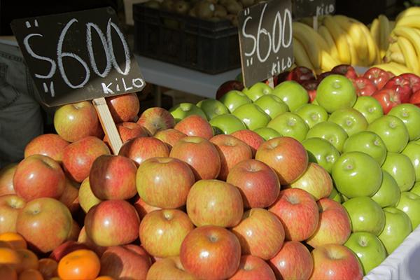 Algunos precios ofrecidos en la feria. Foto Chicureo Hoy