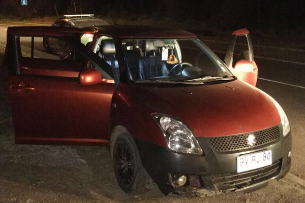 Los delincuente se movilizaban en un Suzuki Swift.