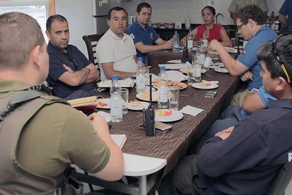 Esta tarde se realizó un comité de emergencia para evaluar la situación. FOTO: Chicureo Hoy