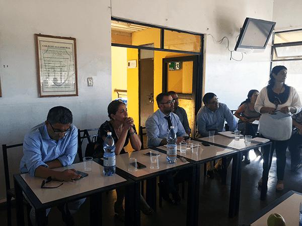 La reunión se realizó ayer lunes. Foto: Chicureo Hoy