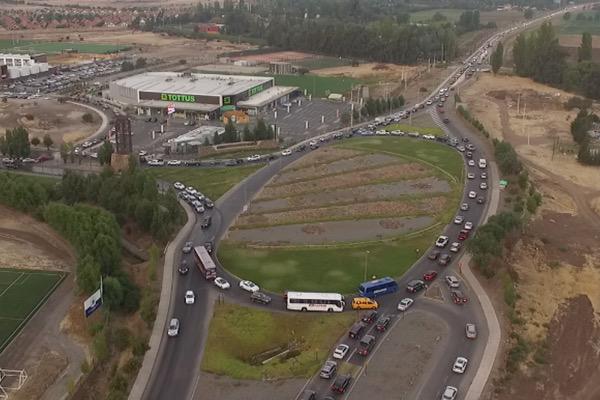 La tercera pista se construirá hacia el interior de la rotonda. Foto: Chicureo Hoy