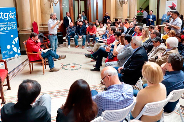 Reunión de alcaldes con Ministro del Interior e Intendente RM