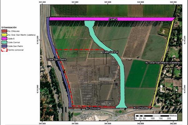 Emplazamiento Proyecto MC Chicureo Fuente: DIA desarrolada por ITA ambiental
